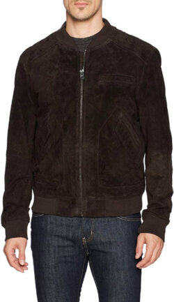 [BLANKNYC] Brown Bear Suede Bomber Outerwear