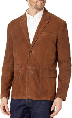 Boston Harbour Vintage Young Men's Suede Travel Blazer Outerwear