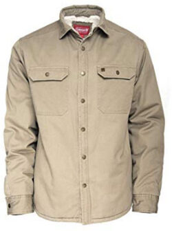 Coleman Sherpa Lined Twill Shirt Jackets for Men 100% Cotton, driftwood