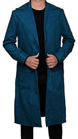Decrum Fantastic Overcoat Men – Long Trench Coat for Mens, green