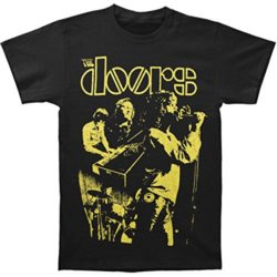 Doors Men's Live Neon Yellow T-shirt Black by Bravado
