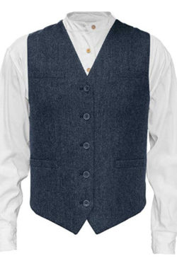 Emerald Isle Tweed Vest for Men, Imported from Ireland, Blue
