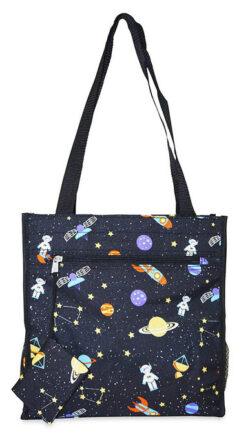 Ever Moda Galaxy Tote Bag Black Galaxy