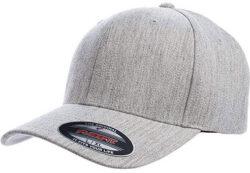 Flexfit Men's Wool Blend Athletic Baseball Fitted Cap heather