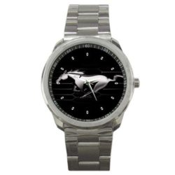 Ford Mustang Black Running Horse Emblem Sport Metal watch Special Edition#1 by The A-Watch Shop