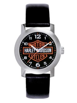Harley Davidson Bulova Mens Bar & Shield Logo Watch.