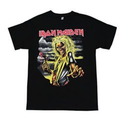 Iron Maiden Heavy Metal Band Graphic T-Shirt Killer (Medium)