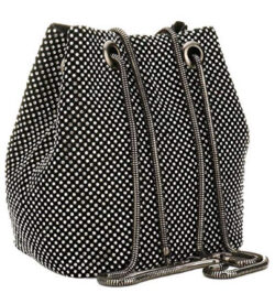 JUER Women's Evening Bags Crystal Rhinestone Clutches Shoulder Mini Bucket Bag Cross-body Purses ...
