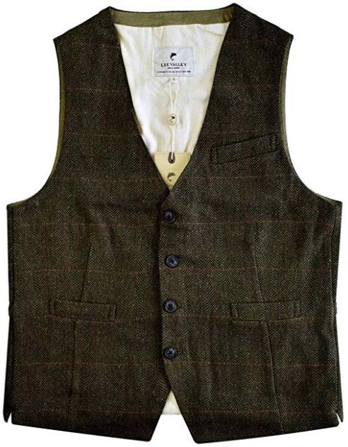 Lee Valley – Men's Genuine Irish Wool Tweed Vest