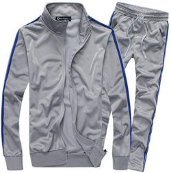 MACHLAB Men's Athletic Full Zip Running Tracksuit Sports Set Casual Sweat Suit gray