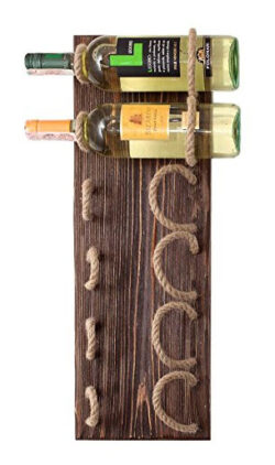 MyFancyCraft Handmade – Wood – Wine – Rack Natural Pine Decor Bottle – H ...