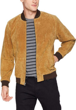 Obey Men's Clifton Lep. Suede Bomber Jacket