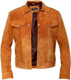 RSH LeathercraftHugh Jackman Tan Brown Real Suede Leather Jacket