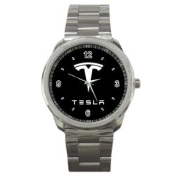 Tesla Motor Logo Sport Metal Watch Special Edition by The A-Watch Shop