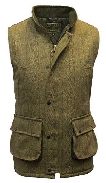 Walker and Hawkes Men's Derby Tweed Shooting Waistcoat Country Gilet