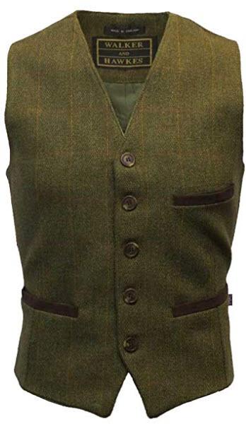 Walker & Hawkes – Men's Tweed Waistcoat Vest Formal Teflon Dress Gilet