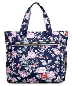 Gogolan Womens Canvas Nylon Floral Multi Pocket Top Handle Tote Handbags Bag Shoulder Bag Shoppi ...