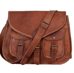Zoro Crafts 13 inch Leather Purse Women Shoulder Bag Crossbody Satchel Ladies Tote Travel Purse  ...