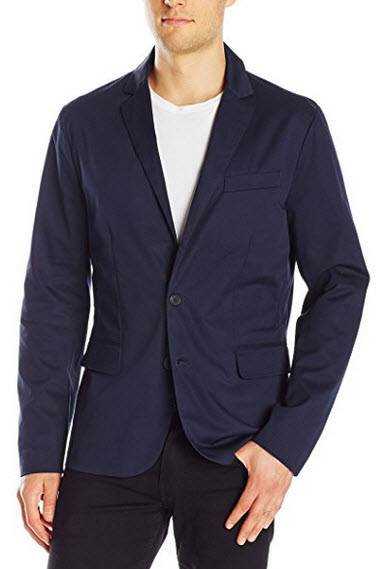 A|X Armani Exchange Men's Classic Woven Blazer navy