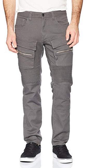 Akademiks Men's Culture Denim Jean, Charcoal 52W X 32L