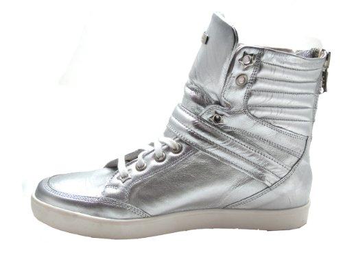Albano 1013 Women's Fashion High Top Sneakers Silver