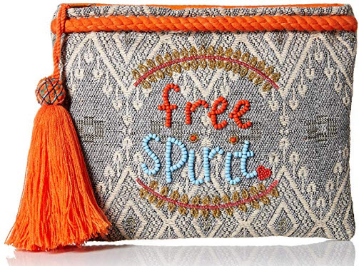 ale by alessandra Free Spirit Beaded Clutch with Tassel Accent