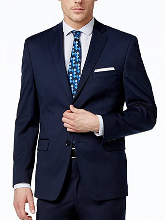 Alfani Slim Fit Navy Solid Two Button New Men's Sport Coat.