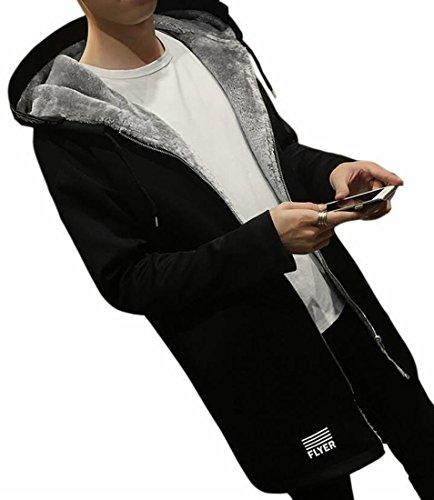 Alion Mens Oversized Custom Fit Outdoor Fleece Hoodies Jacket Trenchcoat.