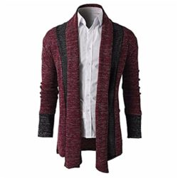 Also Easy Knitted Cardigans Sweater Men Shawl Collar Long Sleeve Open Front Pull Homme Casual Sp ...