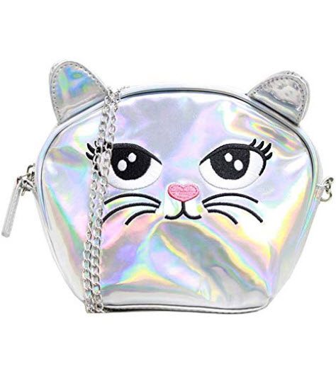 American Jewel Medium Kitty Purse – Cat Face Shoulder Bag with Removable Chain Strap ̵ ...