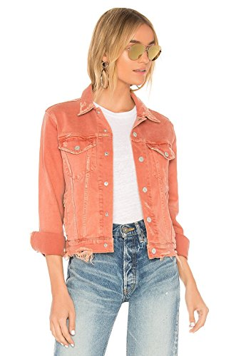 AMO Pop Jean Jacket In Canyon Rose