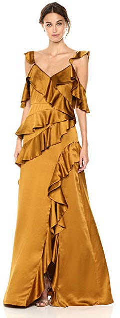 AMUR Women's Pearl Gown gold