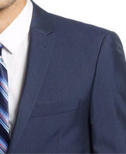 Andrew Fezza Slim Navy Ministriped 2 Button New Men's Sport Coat.