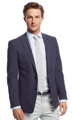 Andrew Marc Navy Neat Wool Blend Two Button New Men's Sport Coat.