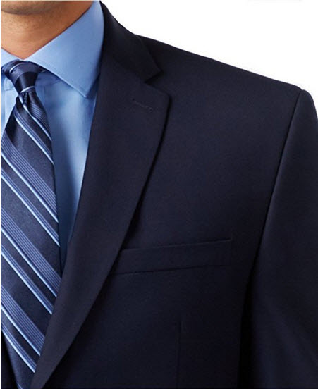 Andrew Marc New York Navy Solid Two Button New Men's Sport Coat.