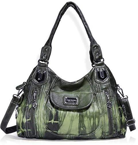 Angel Barcelo Handbag Hobo Women Purse Roomy Multiple Pockets Street ladies' Shoulder Bag  ...