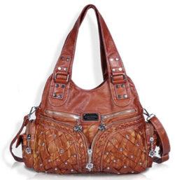 Angel Barcelo Roomy Fashion Hobo Womens Handbags Ladies Purse Satchel Shoulder Bags Tote Washed  ...