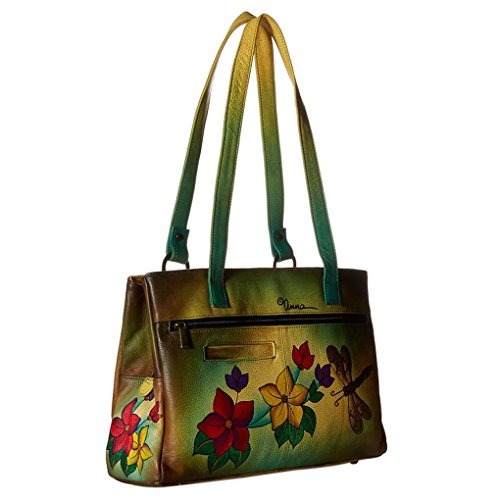 Anna By Anuschka Tote Handbag – Hand Painted Design on Real Leather