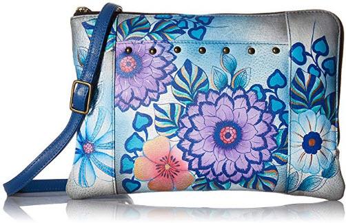 Anna by Anuschka Women's Genuine Leather Medium Cross Body Organizer | Zip-Around Handbag, ...