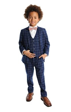 Appaman Boys' Windowpane Two Piece MOD Suit