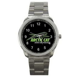 Arctic Cat Snowmobiles Logo Sport Metal Watch