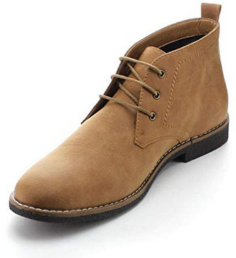 Arider Cooper-03 Men's High-Top Lace Up Chukka Ankle Booties camel