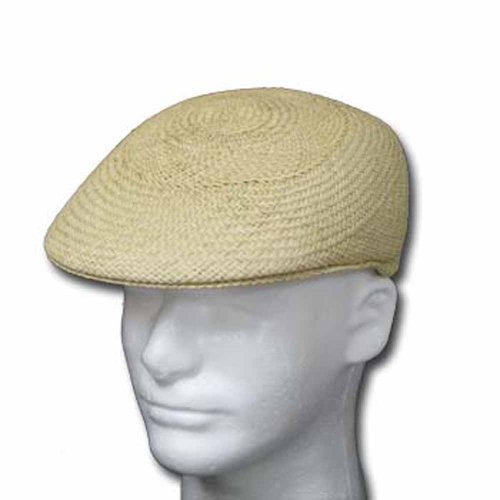 ASCOT ENGLISH Panama Hat NATURAL STRAW Driver Cap by Ultrafino