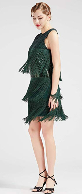 BABEYOND 1920s Flapper Dress Long Fringe Gatsby Dress Roaring 20s Sequins Beaded Dress Vintage A ...