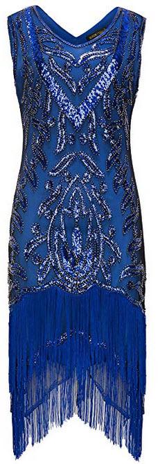 BABEYOND 1920s Flapper Dress Long Fringed Gatsby Dress Roaring 20s Sequins Beaded Dress Vintage  ...