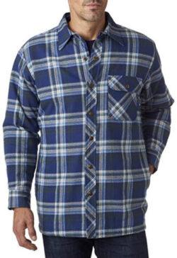 Backpacker Men's Flannel/Quilt Lined Shirt Jacket, blue green