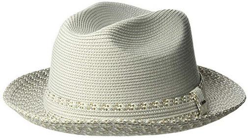 Bailey of Hollywood Men's Mannesroe Braided Fedora Trilby Hat overcast