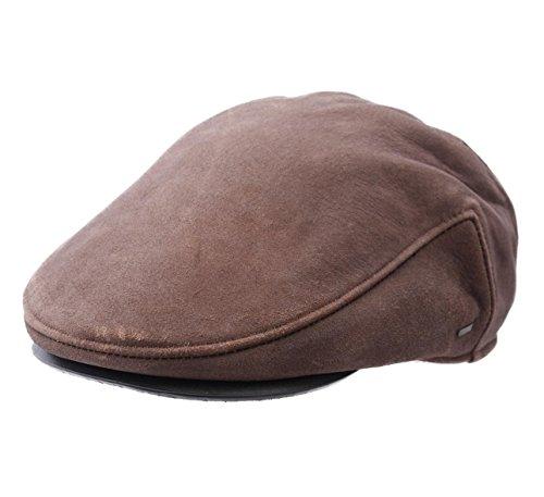 Bailey of Hollywood Men's Pinckney Leather Flat Cap