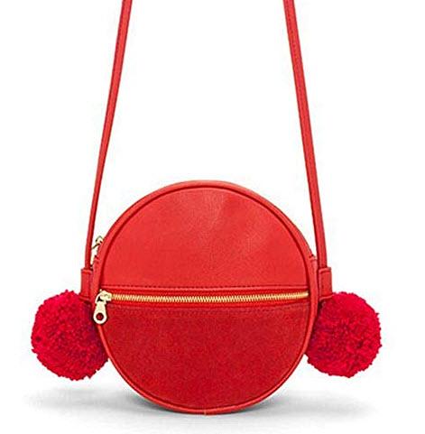 ban.do Women's Leatherette Sidekick Crossbody Circle Bag punch