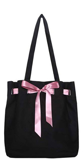 Banglux 13 inch Handbags Tote Bag Shopping Bag Shoulder Bag for Women Girls with Butterfly Knot  ...